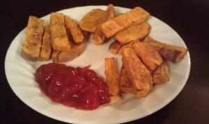 various baked sweet potato fries